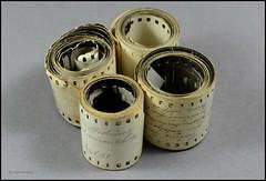 35mm Film Contact Print Paper Rolls (01) (Hans Kerensky) Tags: film 35mm paper print with kodak 1938 holes german rolls contact agfa 1939 1937 sprocket panatomic isopanf