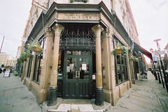 The Ten Bells (goodfella2459) Tags: colour london history film bells analog 35mm lens jack pub nikon crime ten af nikkor 50 whitechapel milf f4 spitalfields ripper c41 14mm f28d oldandbeautiful cinestill
