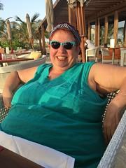 Enjoying the Ritz Carlton Dubai (pam's pics-) Tags: cameraphone portrait me breakfast dubai uae arabia ritzcarlton unitedarabemirates pammorris pamspics appleiphone mobilephonephotography iphone6s