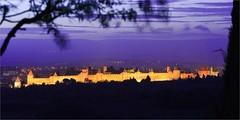 Cit mdivale de CARCASSONNE - France (Gycess) Tags: longexposure nightphotography france aude carcassonne languedocroussillon longueexposition photodenuit citmdivale