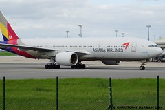 HL-7775 B777-28EER ASIANA AIRLINES (Chris 02) Tags: paris boeing airlines coree asiana sud cdg b777