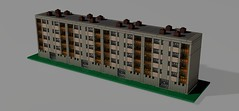 kohosalak_4 (LaszGabi) Tags: house window wall dark tile europe flat lego tan retro flats block transparent realistic moc afol hz blockofflats microscale lpcshz ptszet erkly panelhz koh leg tmbhz microdistrict 4emelet szalaghz legtelep raszter kohsalak kzpblokk