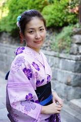 Friendly tourist, Kyoto (Eric Flexyourhead (shoulder injury, slow)) Tags: street city portrait urban woman smile smiling japan zeiss happy kyoto vibrant chinese vivid tourist   kimono gion colourful kansai  shallowdepthoffield higashiyama  55mmf18 higashiyamaku   sonyalphaa7 zeisssonnartfe55mmf18za