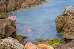 In the Water (haddadzakaria) Tags: summer people seascape water stone landscape algeria day jijel