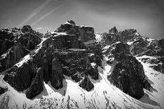 Odle (eyes_of_moab) Tags: bw mountain black alps blackwhite alpi dolomites dolomiti odle beautifulphoto puez