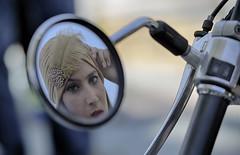 9410 (G de Tena) Tags: espaa woman color girl sevilla mujer nikon europa chica andalucia espejo moto motos