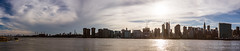 New York City Skyline, Seen from Long Island City (NativePaul) Tags: city nyc newyorkcity panorama usa newyork water skyline clouds america river us cityscape unitedstates manhattan panoramic eastriver photomerge longislandcity midtowneast