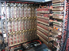 Interior of a reconstructed bombe machine (Shuki Raz) Tags: bombe turing bletchley decoding