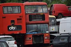 D213 FYM (markkirk85) Tags: new city bus london ex buses yard transport sightseeing scrapyard scrap blackpool fym leyland barnsley bws olympian peris ecw padarn 11987 d213 l213 d213fym