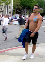 IMG_5904 (danimaniacs) Tags: gay pride shirtless cute hot sexy man hunk guy westhollywood jewelry shorts