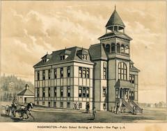 Washington - Public School Building at Chehalis (WA State Library) Tags: westshore history newspapers chehalis washingtonterritory