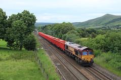 DB Rail UK 66155 @ Edale (Sicco Dierdorp) Tags: stone train manchester hope district sheffield shed peak valley dbs edale schenker class66 ews chinley steentrein dbrailuk