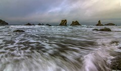 The Tide is High at Bandon (Cole Chase Photography) Tags: morning canon waves tide pacificocean pacificnorthwest t3i bandonbeach