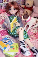 Olive & Winnie (Lucy-Loves?) Tags: dog bostonterrier doll olive bjd winnie ganga anthro dollstown petdoll iplehouse