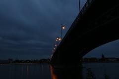 IMG_9796 (AndyMc87) Tags: mainz theodorheussbrcke bridge night outdoor sky clouds latern light wet reflection stream fluss rhein kastel schloss