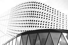 Amazing architecture in Spijkenisse, NL (Fotogaaf ~ Amanda) Tags: architecture facade building lines beads shadows shape whalemouth blackandwhite flow
