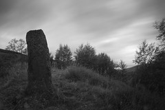 Standing Stone, Spittal of Glenshee (ShinyPhotoScotland) Tags: rawtherapee camera places zen blur timefulness filter lens monochrome photography digikam scotland rawconversion timeflows blackandwhite longexposure perthshire nd8 glenshee spittalofglenshee circularpolariser olympus1260mmf28 toned art equipment nd4 emotion olympuspenf motionblur unitedkingdom gbr 1260mm airy beyond mankindnature megalith motionstationary nature nearfar negativespace old olympus simple skyearth slowfast space standingstone striking transience trees turbulence
