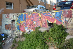colourful retaining wall (cam17) Tags: chile valparaiso valparaisochile graffiti streetart valparaisograffiti retainingwall colourfulwall