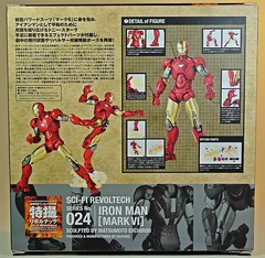 Kaiyodo  Sci-Fi Revoltech  Series No. 024  Iron Man 2  Iron Man Mark IV  Box Back (My Toy Museum) Tags: kaiyodo revoltech sci fi iron man mark mk 4 iv action figure