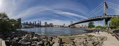 New York_entre Brooklyn bridge et Manhattan bridge (regis.muno) Tags: newyork manhattan brooklyn brooklynbridge manhattanbridge usa nikond7000 bridge pano panorama panoramique eastriver