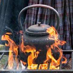 Flaming Kettle (laughingrasputin) Tags: militaryodyssey detling kentshowground reenactors kettle flames