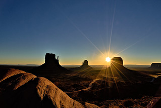 Greetings from John Wayne - or how beautiful a sunrise can be...