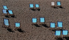 Deck Chairs for hire. Earn your stripes (Grooover) Tags: deck chairs beach stripes brighton sussex grooover