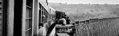 [Myanmar, Nawnghkio] Goteik Viaduc (Paul Bergot) Tags: burma myanmar train transportation car shan state goteik viaduc bridge rails railway panorama landscape black white monochrome asia south east travel travelling highs