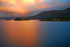 Space is the Place (skutul) Tags: nikon d80 scozia scotland travel highlands loch sea sunset clouds longexposure pink blue colorful outdoor dusk water reflection