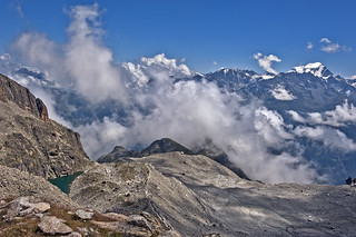 The Glacier d'Orny and the Grand Combin. A view from the Cabane d' Orny. No. 4766.