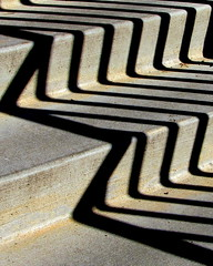 zig zag shadows (quirkyjazz) Tags: allencentennialgarden madison wisconsin outdoor steps cement shadows zigzag