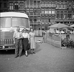 Ver018 (72grande) Tags: 1952 belgië belgique brussel bruxelles grotemarkt grandplace