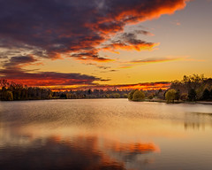 Autumn twilight Hoyt Lake (buffcleb) Tags: new york morning
