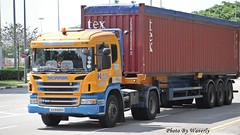 Scania P400 (Waverly Fan) Tags: port truck gateway psa scania inter haulage huationg