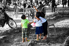 Cambodia (Qicong Lin(Kenta)) Tags: street travel people color colour children nikon cambodia cambodian child culture siem lin angkor interest 2014   d600 kampuchea qicong selectivecoloring reab