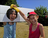 100710.050. Wet Sponge.  (THDS100710northdown-6.) (actionsnaps) Tags: girls friends water smiling laughing children kent sunny squeeze stocks familyfun captive fundraising margate enjoyment wethair playmates baseballcap thanet restrained charityevent summerfair pillory wetsponges northdownprimaryschool tenterdenway