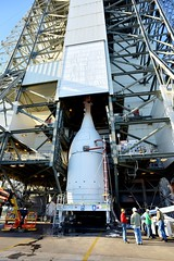 Orion Prepared for Lift at Launch Pad