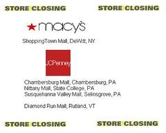 2015 JCPenney/Macy's Closings (Random Retail) Tags: ny mall pa macys vt storeclosing jcpenney 2015 deadmall