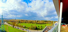 2014_10_17-th_Panorama_#37 (Me now0) Tags: road park blue trees sky panorama white color tree green colors clouds mall landscape nikon colorful europe power sofia south lawn windy sunny panoramic line pole bulgaria wires cumulus coolpix transmission wiew       l330