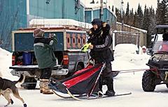 Allen Moore wins for 6th time . . (JLS Photography - Alaska) Tags: sports alaska january winner musher sleds mushers dogmushing dogracing sleddogracing allenmoore jlsphotographyalaska copperbasin300sleddograce