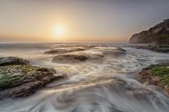 Bungan (Dusan R) Tags: sunset seascape clouds sunrise rocks sydney australia textures swell rockpool northernbeaches oceanbath bungan leefilters canon1635 canonmkiii dusanr