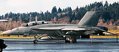 Super HDR (Mike D. Swaja) Tags: two oregon portland us airport aircraft aviation military flight navy jet craft super ne atlantic 101 international pdx hornet boeing fighting fa18f kpdx vfa2