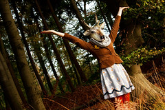 The Poetry Of The Nature Is Never Dead. (akal_flickr) Tags: wood mask deer innamoramento