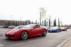 Ferrari 599 GTB & Lamborghini Huracn LP610-4 & Ferrari 360 Spider (davidphotocars) Tags: slr ford chevrolet huracan camaro enzo shelby bmw dodge gto mustang m3 audi corvette lamborghini m6 m5 m4 v8 rs2 types v10 sls gallardo amg sl65 rs4 typer trackday quattro f40 r8 f12 sl55 rs6 v12 f50 e46 e36 skyine superleggera ferrar rs3 e92 rs7 aventador