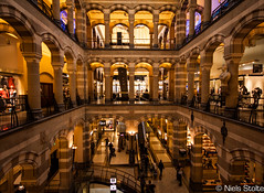 Magna Plaza Interior / Amsterdam, the Netherlands (Niels Photography) Tags: plaza old holland netherlands amsterdam architecture canon shopping eos design office postbank angle interior interieur wide nederland center historical postal architectuur magna 500d