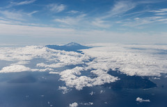 Teide (Bhalalhaika) Tags: ocean travel vacation mountain snow nature water colors clouds landscape volcano islands spain cloudy aerial explore views tenerife handheld gran faves blueskies canary teide cloudscape comments onexplore shotfromplane explored thebestphoto canonef70200mmf28lisiiusm matsanda bhalalhaika