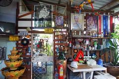 home shrine (the foreign photographer - ) Tags: decorations home wall thailand shrine king bangkok flag sony buddhism monarchy khlong bangkhen thanon rx100 dscnovember222914sony