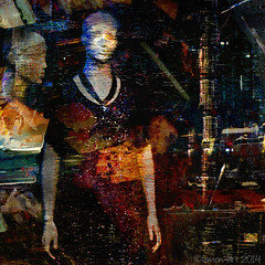 Sleepwalking in the city (Lemon~art) Tags: texture mannequin shop surreal manipulation sleepwalker