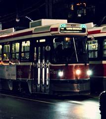 streetcars (...Gail...) Tags: red toronto night 365 queenstreet streetcars queenstreetstreetcar 365daysproject