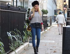 Ushanka (LovebyN) Tags: travel london hat fashion fur boot boots russia jeans denim russian mayfair travelblog givenchy russianhat ushanka sharktooth streetstyle fashionblog fashionblogger lovebyn